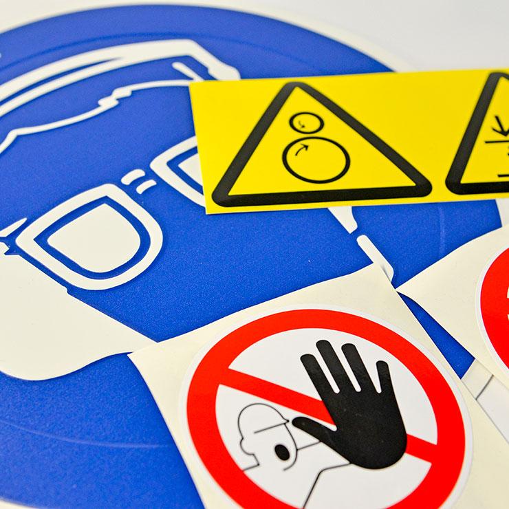 Safetymarking - Vorschriftsgemäße sowie auch individuelle Warn-, Hinweis- und Gebotsschilder.