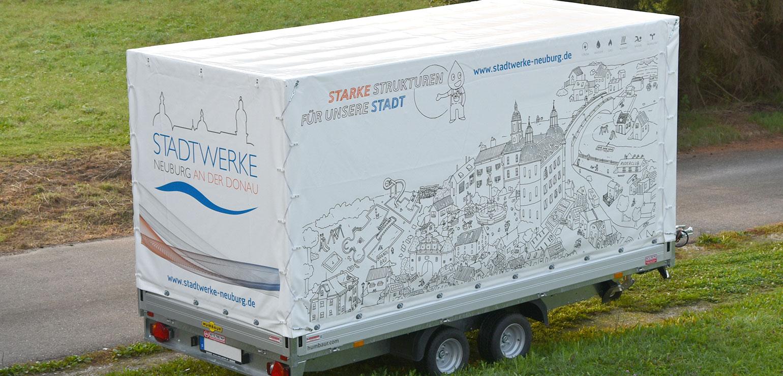 Banner und Planen aus Spezial-Truckfolie