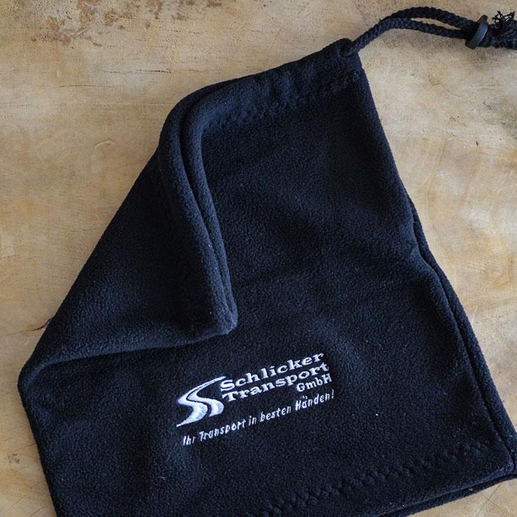 Tube Schals mit Logo bestickt
