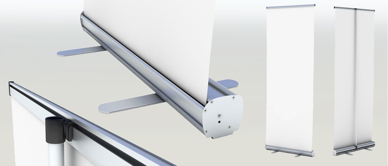 Roll-Up-Displays - leicht transportierbar und schnell aufgebaut