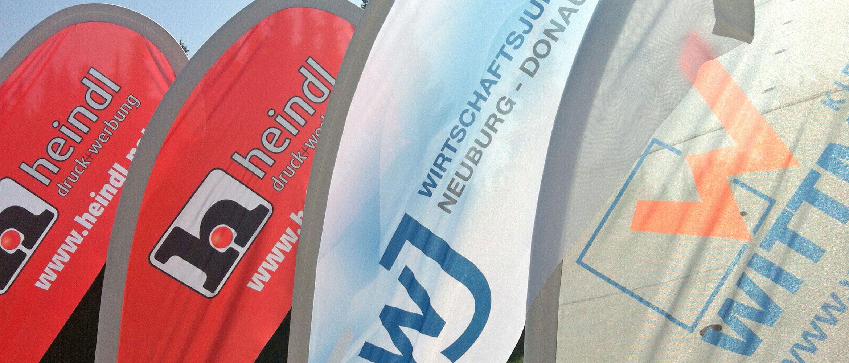 Beachflags mit professioneller Gestaltung & hochwertigem Druck